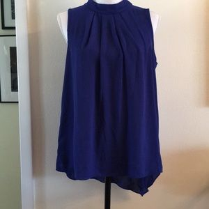 Sleeveless top. Navy royal blue.